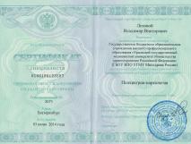 Сертификат специалиста. Лозовой Владимир Викторович
